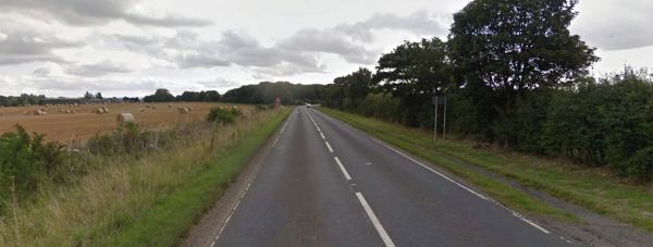 The motorcycle crashed on the A631 near to the village of Hemswell on Sunday.
