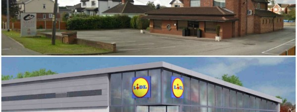 The new Lidl supermarket in North Hykeham will replace the former Ocean Chinese restaurant.