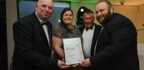 Colin Davie, Executive Councillor for Economic Development, Environment, Strategic Planning and Tourism at Lincolnshire County Council presenting the award for Pub of the Year to Village Limits Country Oub, Restaurant and Motel. Photo: Steve Smailes for The Lincolnite