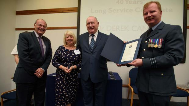 Derek Canton, honoured for 40 years of service. Photo: Steve Smailes for The Lincolnite