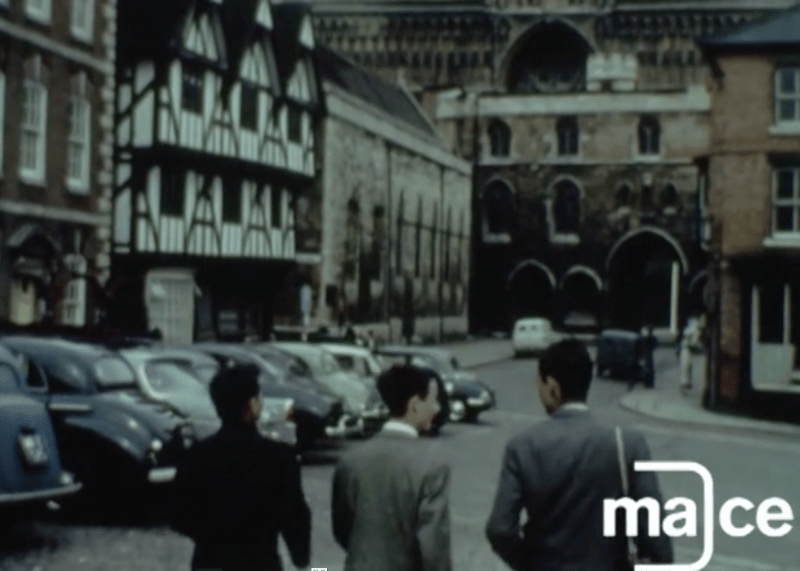Screenshot: Discovering Lincolnshire Mace Archive Footage