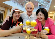 Cllr Rosanne Kirk joined residents and staff from Sainsburys at Monson Street Retirement Home. Photo: CoLC