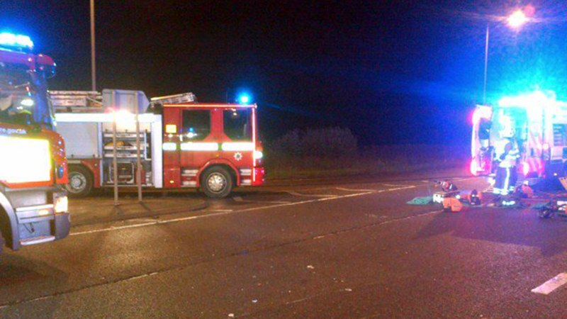 The scene of the crash on the A46 between Newark and Lincoln. Photo: EMOpSS TRPT North (@TRPTNorth)