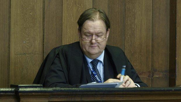 Judge Hilton Spratt delivering his verdict