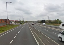 The crash happened on the A1 at Colsterworth. Photo: Google Street View