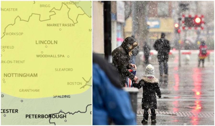 A yellow weather warning for ice has been issued for Lincolnshire