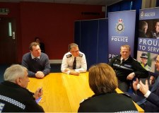 Chancellor George Osborne holding a meeting with chief constables from the East Midlands on January 8