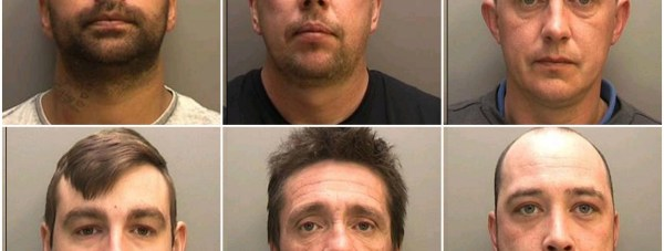(Top to bottom, left to right) Craig Paul Smith, Brian Derrick Smith, Malcolm Isaac, Philip Smith, Gordon Geoffrey Smith, Charles Aaron Smith. Photo: British Transport Police