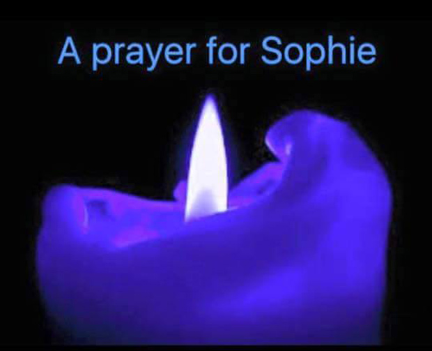 People have been changing their profile pictures on social media to a blue candle in her memory.