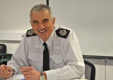Chief Constable Neil Rhodes at his first Lincolnite live web chat. Photo: The Lincolnite