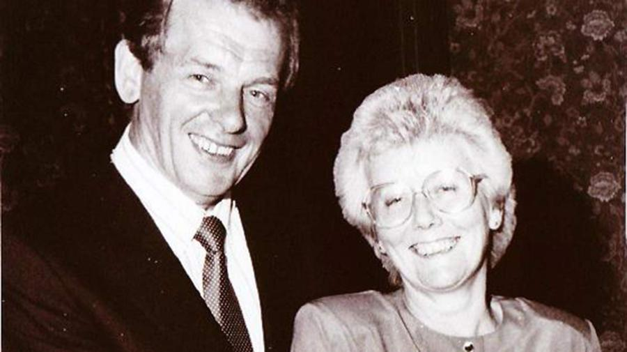 John Davey with his wife Anne.