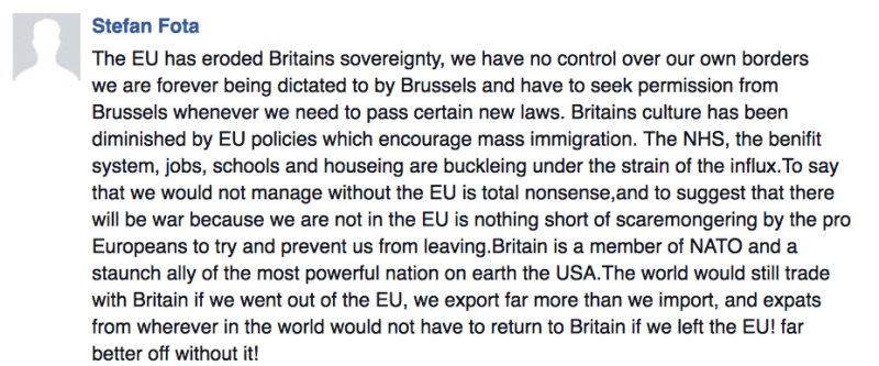 Comment by reader Stefan Fota.