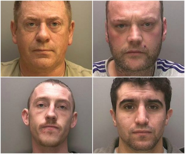 Stuart Fisher, Jamie Darby, Ashley Toulson, Adam Gill (left to right, top to bottom)