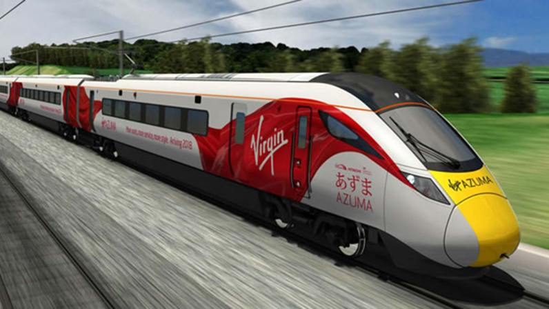 Virgin says the trains will have some of the best leg-room on the rail network, as well as ergonomically designed seats in both first and standard.