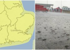 A Met Office yellow weather warning is in place for Easter Saturday.
