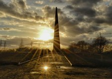 The Bomber Command Memorial Spire will be lit up as one of a thousand beacons for the Queen's 90th birthday. Photo: Jason Corrigan