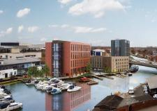 Updated designs for the University of Lincoln's Marina Courts development. Photo: University of Lincoln