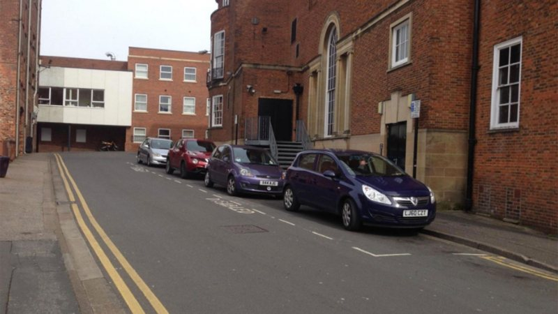 Existing disabled parking bay on Mint Lane. Photo: Lincolnshire County Council