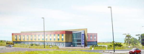 Designs for the potential new hotel at the Lincolnshire Showground. Photo: Hodgson Elkington LLP