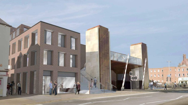 The buildings will front Lincoln High Street, adjacent to the new Lincoln High Street level crossing footbridge. Artist impressions: Stem Architects