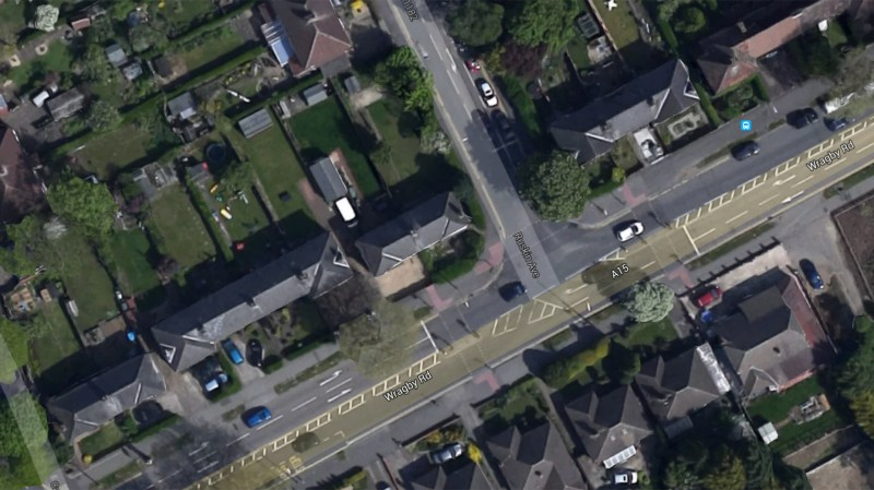 The crash happened on the busy Wragby Road junction on March 25