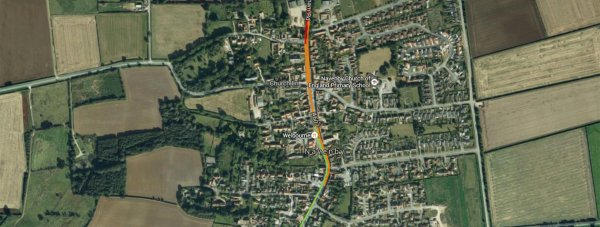 A number of roads are closed in Navenby due to the gas leak.