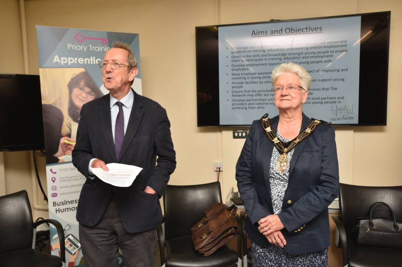 Councillor Ric Metcalfe and Mayor of Lincoln Yvonne Bodger officially opened The Network.