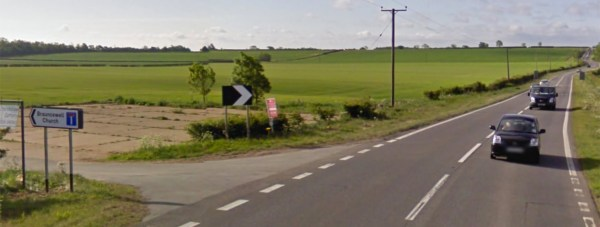 The A15 at Brauncewell Church. Photo: Google Street View