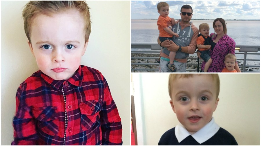 Four-year-old Hugo's family have set up a Gofundme page to raise money and awareness for treatment and research.