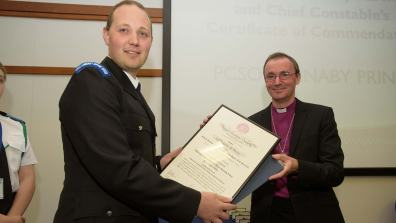 Police-Chief-Constable's-Award-Ceremony-09-06-2016--SS-6-PCSO-Barnaby-Prince-Royal-HumaneSociety-Parchments-and-Certificates-of-Chief-Constables-Commendation