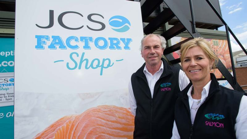 Andrew and Louise Coulbeck, co-founders of JCS Fish. Photo Steve Smailes