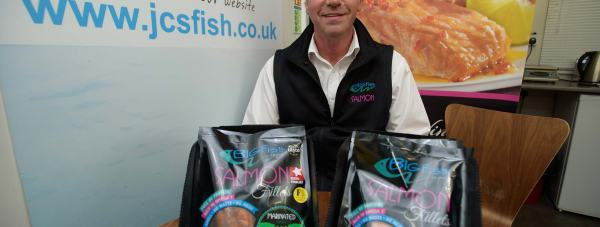 Andrew Coulbeck, co-founder of JCS Fish. Photo Steve Smailes