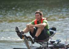 Guy Martin on Brayford Pool preparing for his now-cancelled record attempt. Photo: Tobias Thompson
