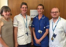 Members of the care home team (L to R) Consultant in Older People's Service Dr Gill Garden, Physiotherapist Lindsey Mills, Nurse Karen Downing and Occupational Therapist Graham Wilson