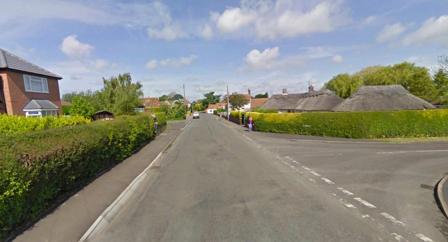 The crash happened on Ludborough Road in North Thoresby. Photo: Google Street View