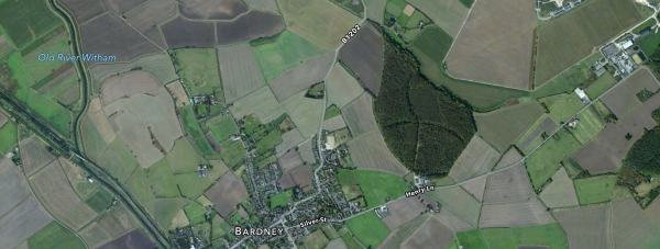 The crash happened near Bardney on Saturday at around 12.30pm. Map: Apple