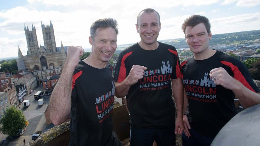 Steven, Mark and Chris hope to raise over £5,000 for the Ethan Maull 'Up Yours to Cancer' Foundation. Photo: Steve Smailes for The Lincolnite