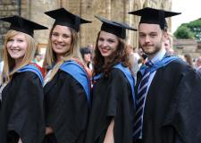 Bishop Grosseteste University students at their graduation ceremony at Lincoln Cathedral