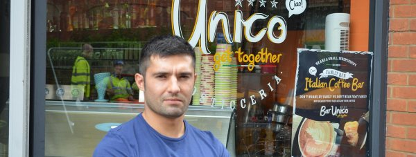 Gio Carchedi, Parter of Bar Unico on St Benedict's Square said his business has lost trade this week. Photo: Sarah Harrison-Barker