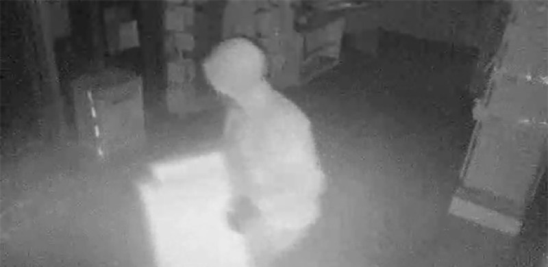 The break-in was captured on CCTV. Police are continuing their investigations.