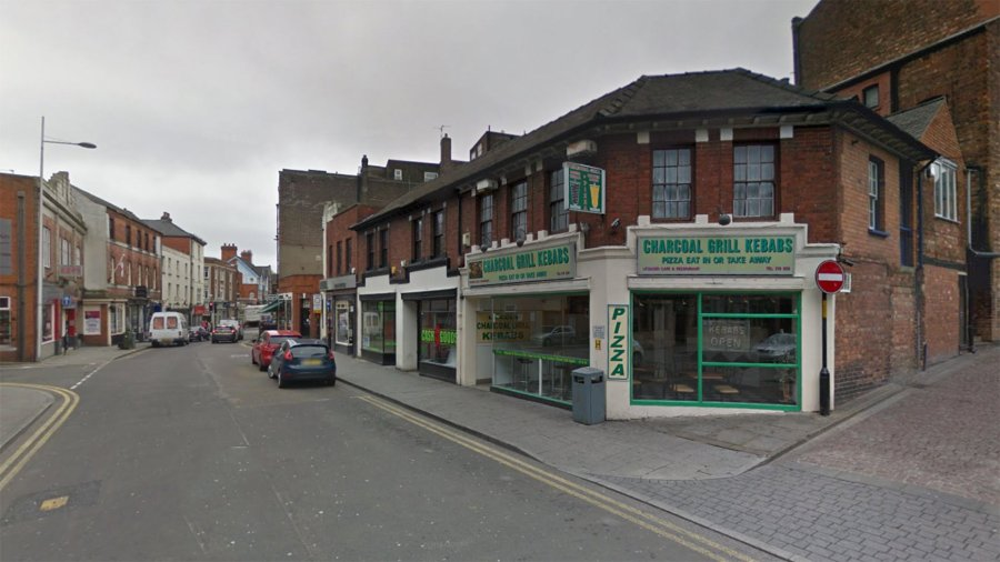 The violent attack happened outside the Charcoal Grill takeaway on Clasketgate. Photo: Google Street View