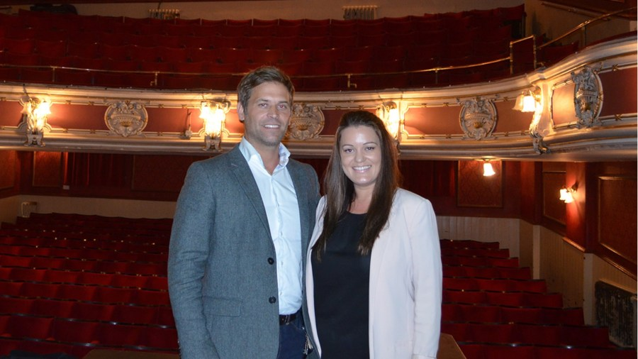 Mike and Natalie Hayes-Cowley are the new owners of the New Lincoln Theatre Company. Photo: Sarah Barker for The Lincolnite