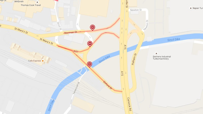Road closures from August 15 in Lincoln city centre