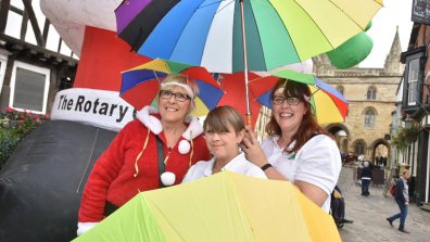 Umbrella Charity. Photo: Steve Smailes for The Lincolnite