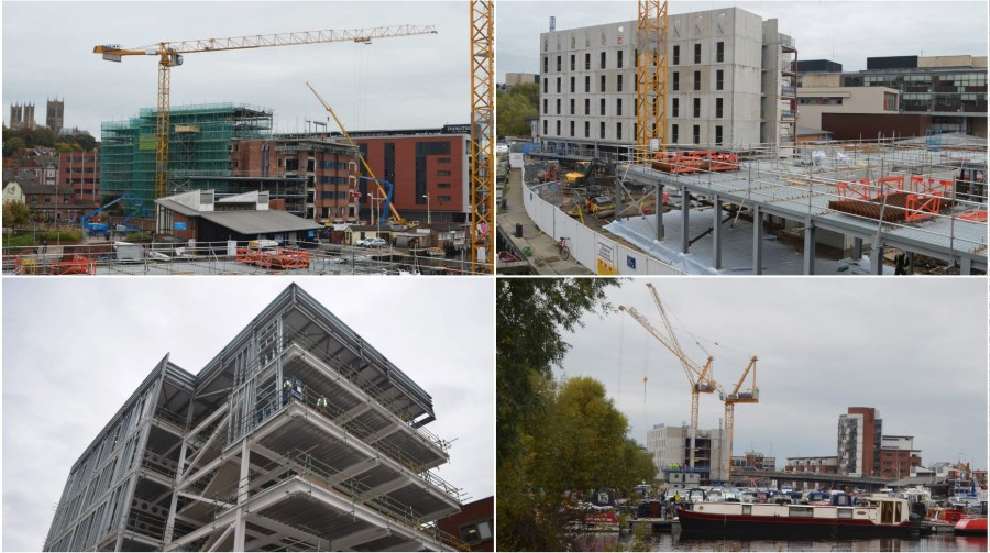 Works are currently transforming the Brayford landscape. Photo: The Lincolnite