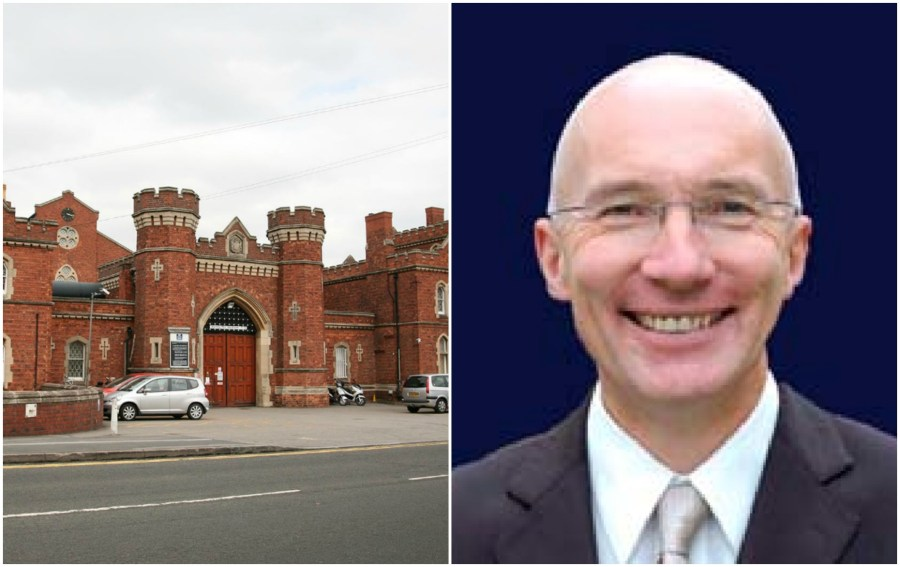 The now former Lincoln Prison governor Peter Wright.