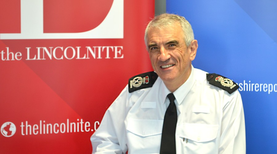 Lincolnshire Police Chief Constable Neil Rhodes taking part in a live web chat with The Lincolnite.