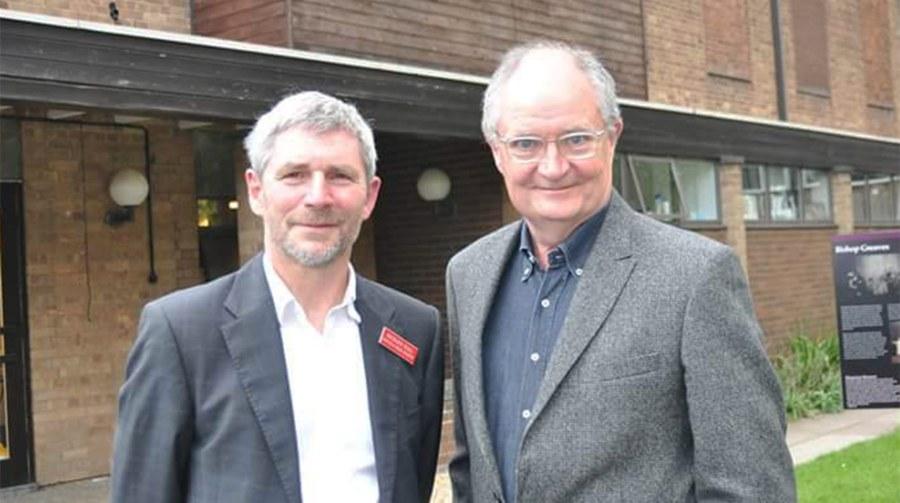 Columnist Richard Hall with award-winning Lincolnshire actor Jim Broadbent.