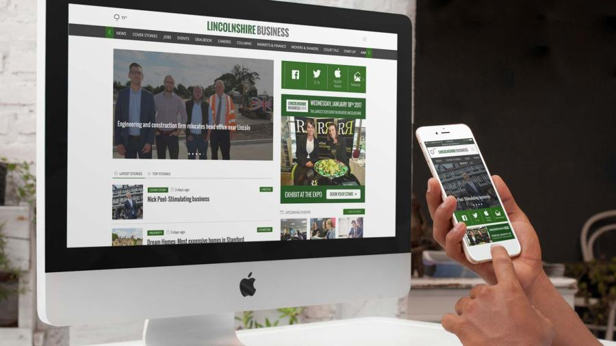 The new Lincolnshire Business website, now available on www.lincsbusiness.co