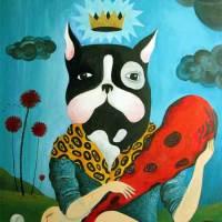 Adrià Fruitós - God Dog painting